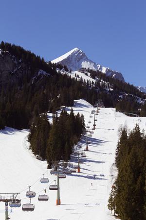 Ski lift on a mountain slope