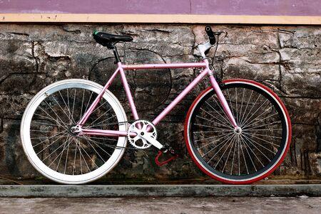 fixed: Pink bicicleta fija del engranaje