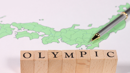 TOKYO OLYMPIC image Stock Photo