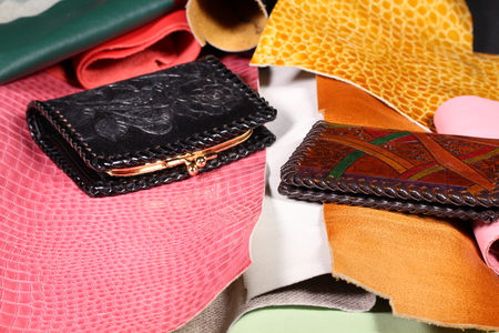 Leather wallets and leather pieces