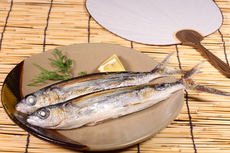 Grilled flying fish