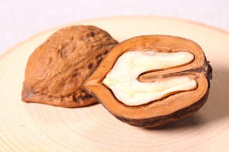 Cross section of Walnut 写真素材