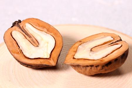 Cross section of Walnut Imagens