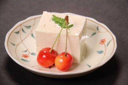 Japanese Cold tofu close up