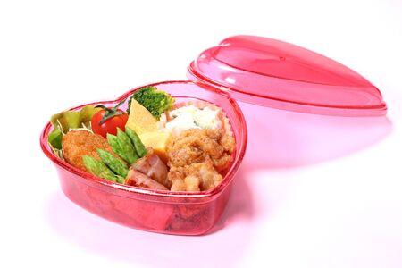 Heart Shaped Bento Box (Japanese Lunch Box) Stock fotó