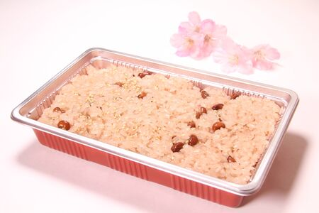 Traditional Japanese Cuisine, Sekihan or Sticky Rice Steamed with Red Beans Фото со стока