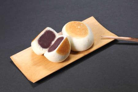 Manju (japanese cake) on the plate