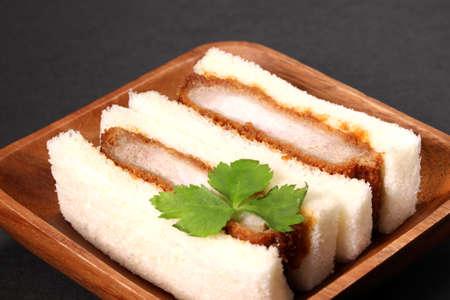 pork cutlet sandwich on a plate Imagens