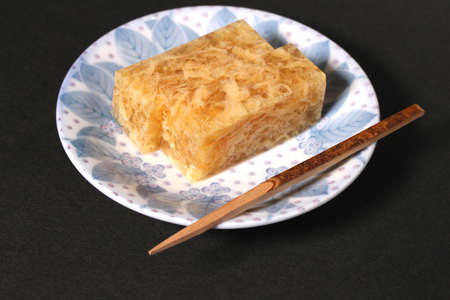 Japanese food, Soy sauce flavor kanten jelly Imagens