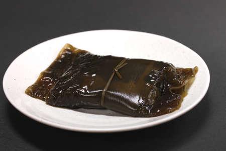 Japanese food, kombu roll with fish inside