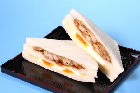Chicken egg sandwich on a plate