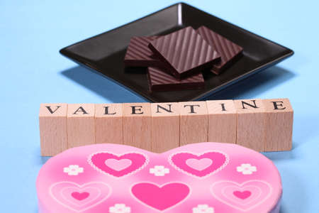 Chocolate and characters of VALENTINE Imagens