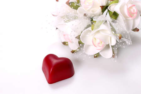 Valentine's day image, flower and  heart chocolate