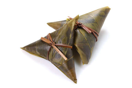 Japanese food Sasamaki, sticky rice wrapped with bamboo leaf