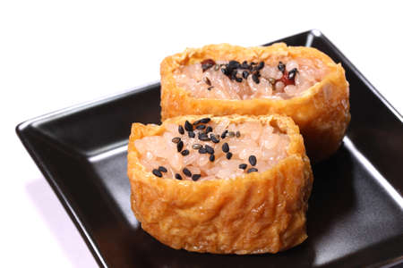 Inarizushi with Sekihan (Japanese red bean rice)