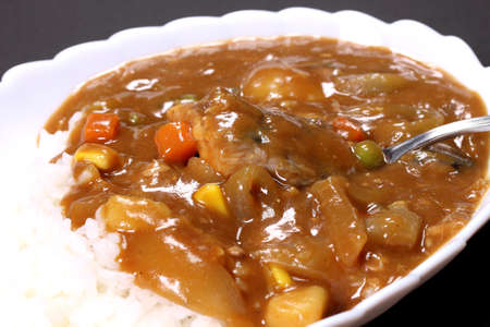 Mackerel can curry with rice