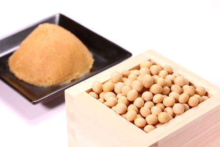 Soybeans and Japanese traditional seasoning Miso