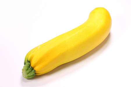 fresh yellow zucchini isolated on white background Banco de Imagens
