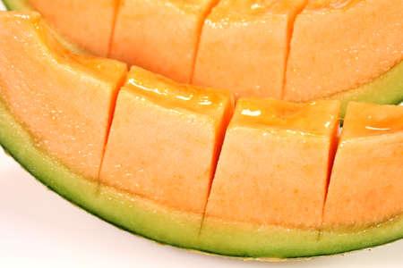 Cutted fresh ripe melon close up