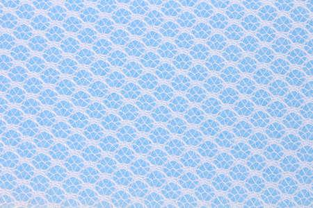 Blue sponge cleaner close up