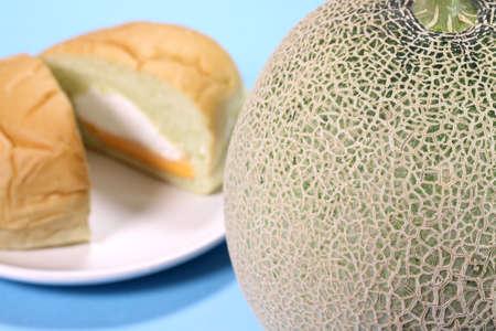 Muskmelon and melon bread close up
