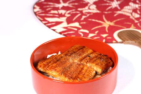 Unaju, Japanese grilled eel with sweet soy sauce on rice Banco de Imagens
