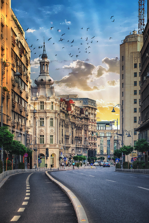 Streets of Bucharest, Romania. Stock fotó