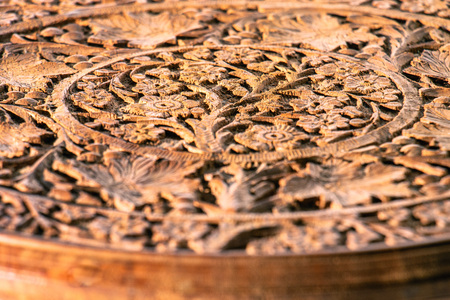 hand -carved sandalwood table top Фото со стока