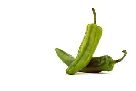 Bilanciato Nuovo Messico verde Cile - isolati su bianco Archivio Fotografico