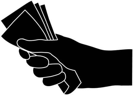 Money in the hand Stock Vector - 7879085