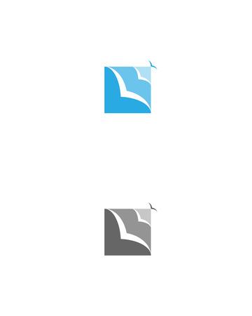 boundaries: no boundaries easy flat   birds sky Illustration