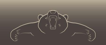 angry bear: ilustraci�n oso enojado