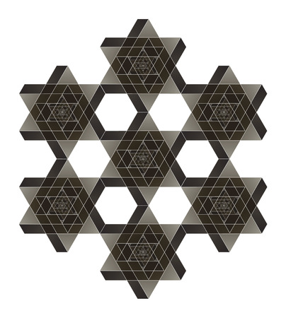 impossible: Impossible star of David vector