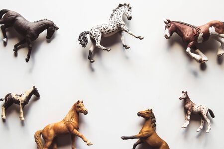 Horse realistic toy - white background isolated