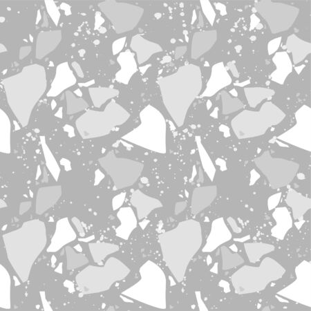 Terrazzo vector seamless pattern. Texture natural stone, granite, quartz, marble, glass and concrete. Illusztráció