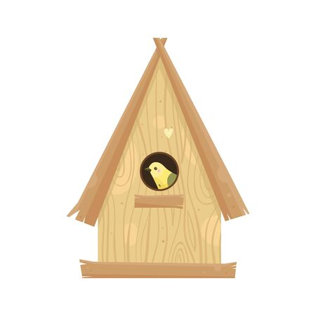 Birdhouses, cute birds and nests illustrations, hand drawn isolated on a white background. Set