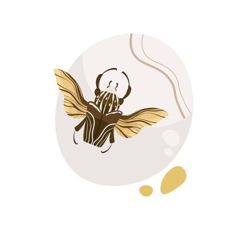 Goliath beetle. Goliathus cacicus vector hand drawn illustration.