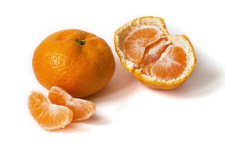 fresh fruit tangerine isolated on white background
