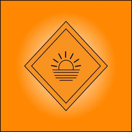 illustration of the sunset logo