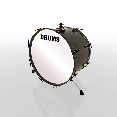 drum and bass: 3d bass drum image
