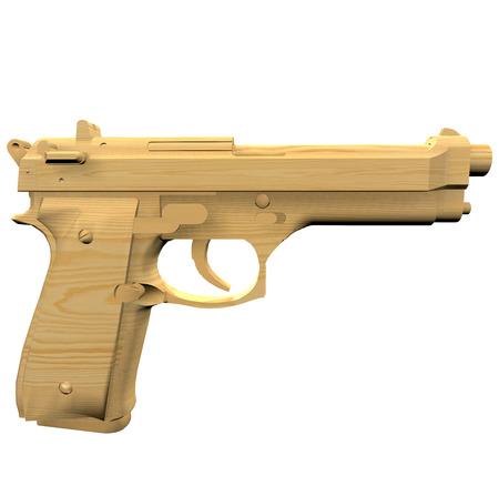 stuff toy: 3d wooden beretta