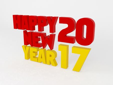 17 20: happy new year 2017 three
