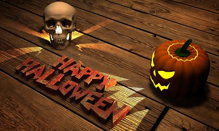 happy halloween jack 3d rendering Stock Photo