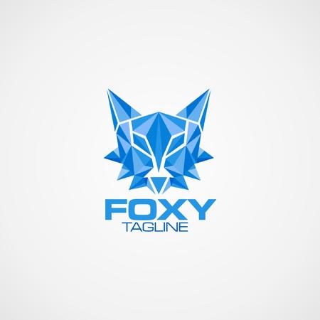 foxy: logo with fox design Illustration
