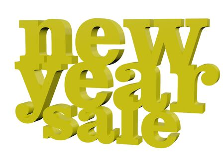typo: 3d new year sale typo gold