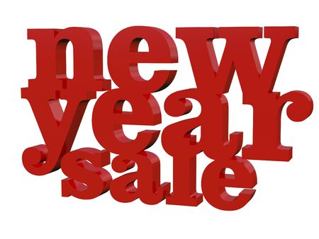 typo: 3d new year sale typo red