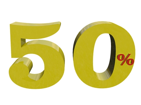 50 percent numerical 3d rendering  view 3