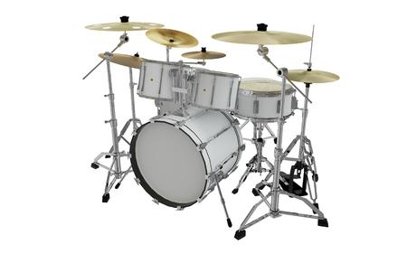 modern white drums 3d illustration