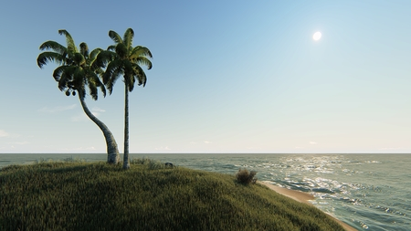 sunny day in the small tropical island
