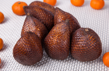 salak: Salak fruit and clementines fruit Stock Photo